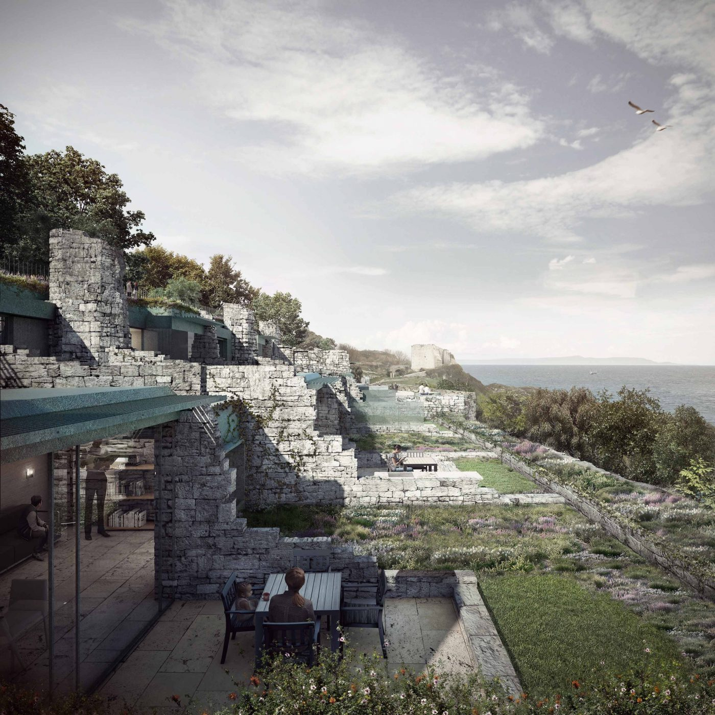 Clifftops Pennsylvania Castle by Morrow + Lorraine